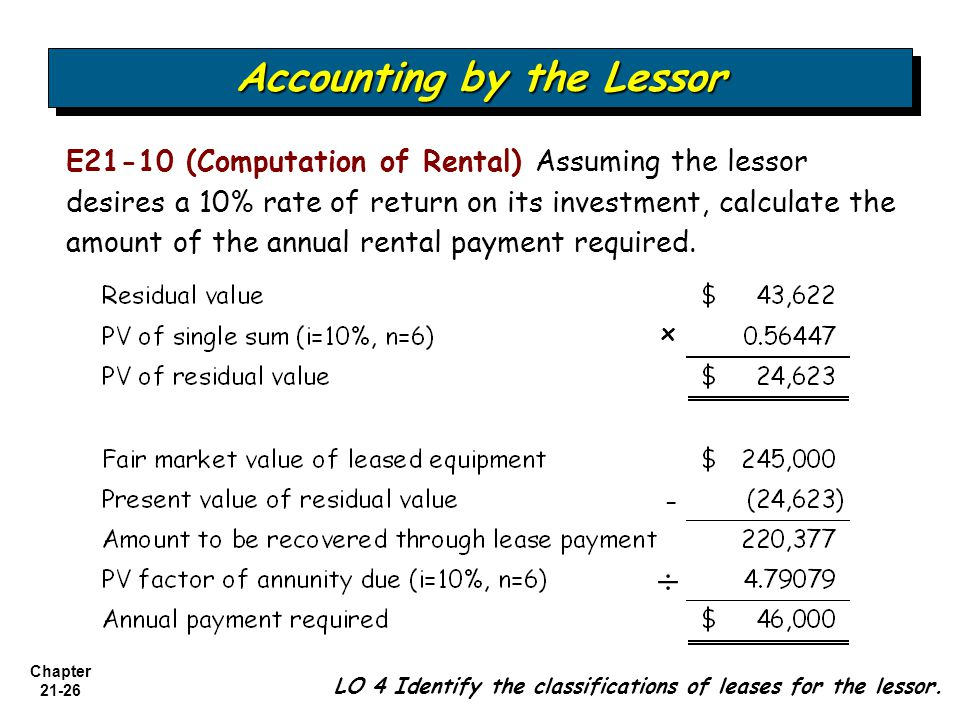 21 Chapter Accounting for Leases Intermediate Accounting 12th