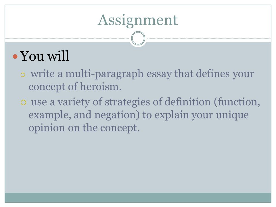 Writing a Definition Essay - ppt video online download