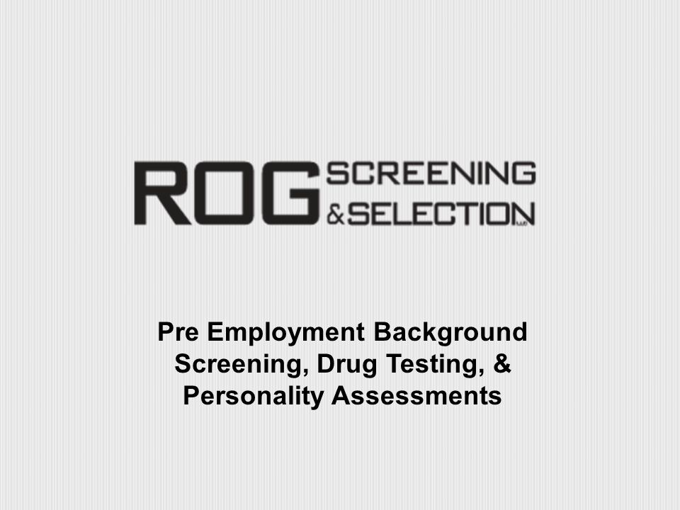 ROG Screening  Selection - ppt download