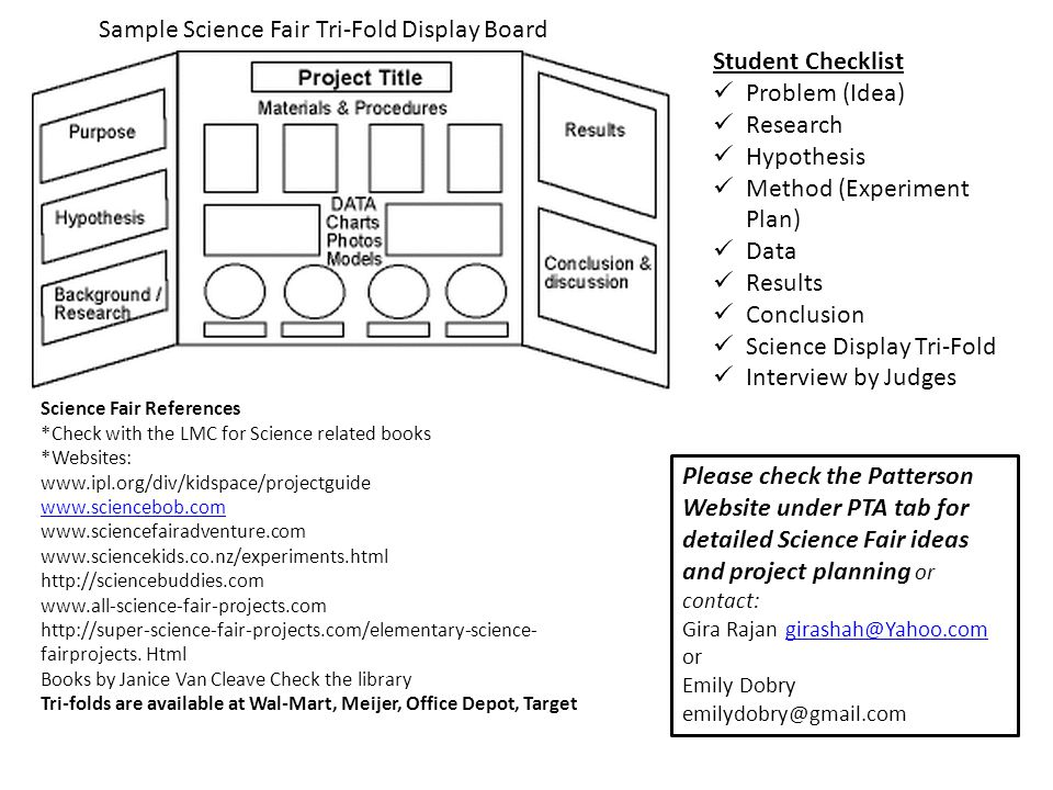 Patterson Elementary Science Fair Project Guidelines - ppt video