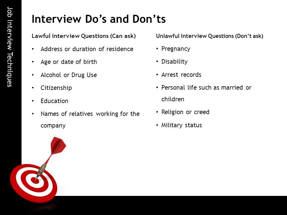 Job Interview Techniques - ppt video online download