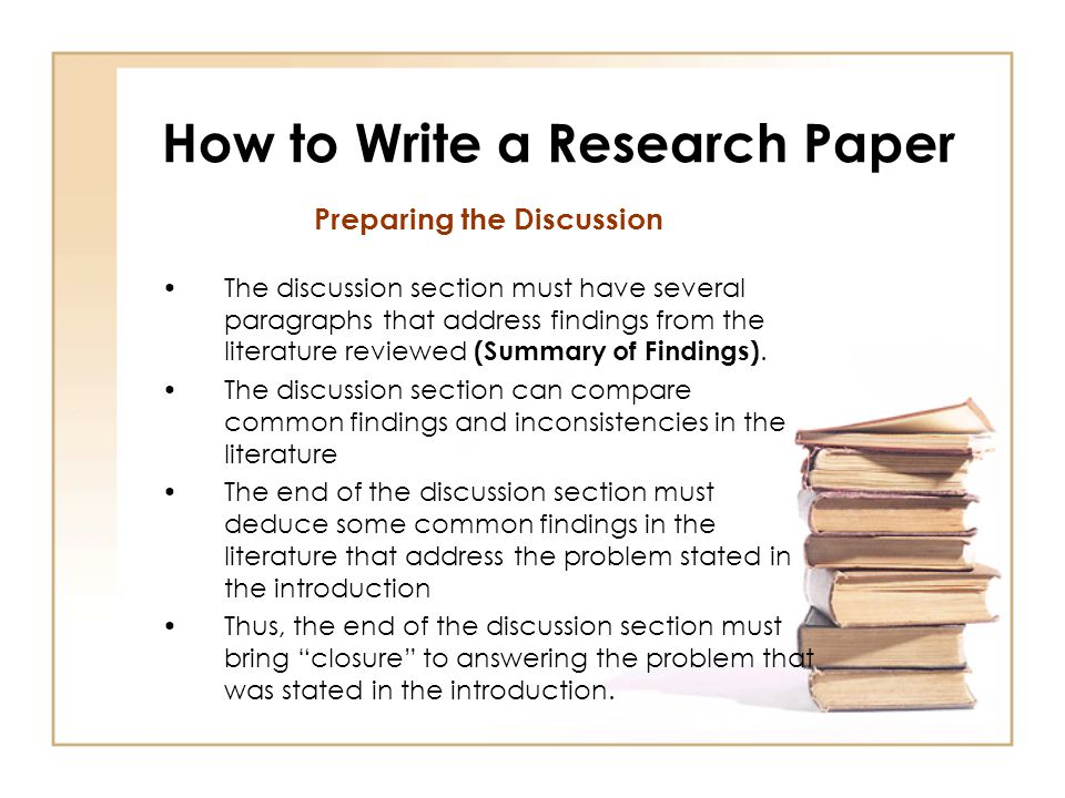 Writing the discussion section of a research paper apa Coursework