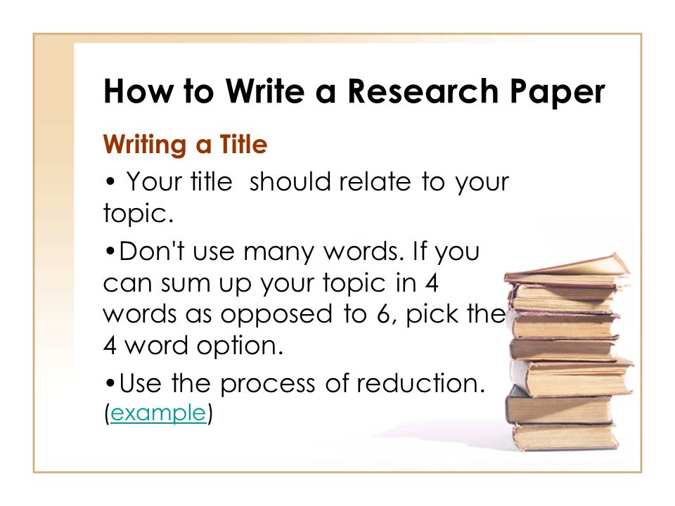 How to Write a Research Paper - ppt video online download