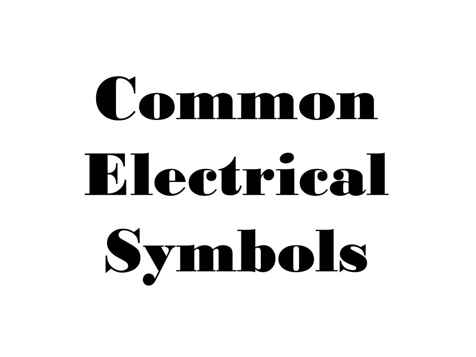 electrical drawing symbols ppt