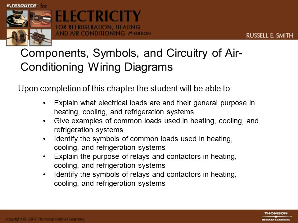 Components, Symbols, and Circuitry of Air-Conditioning Wiring Diagrams