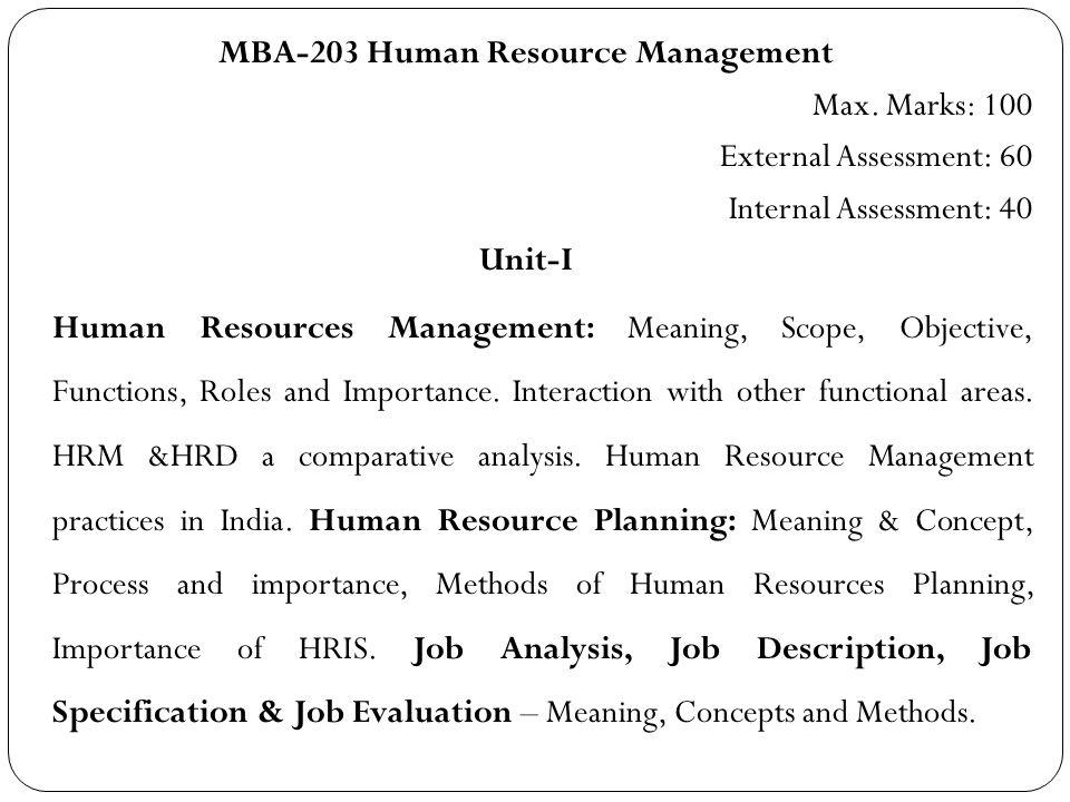 Human Resource Management Syllabus (MBA \u2013 203) - ppt download