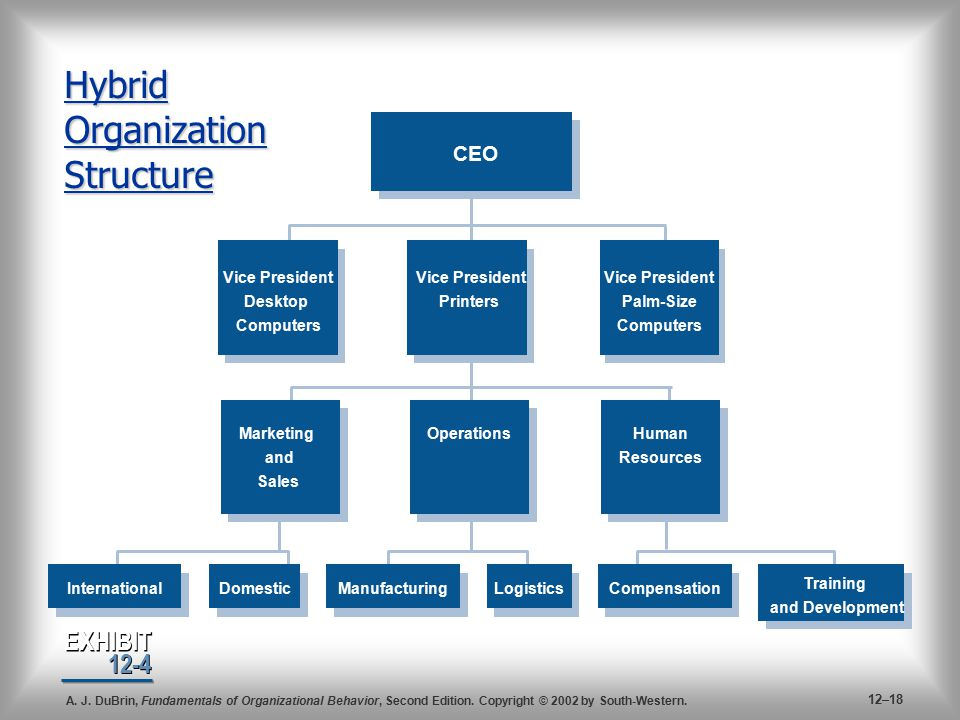 marketing organizational structure