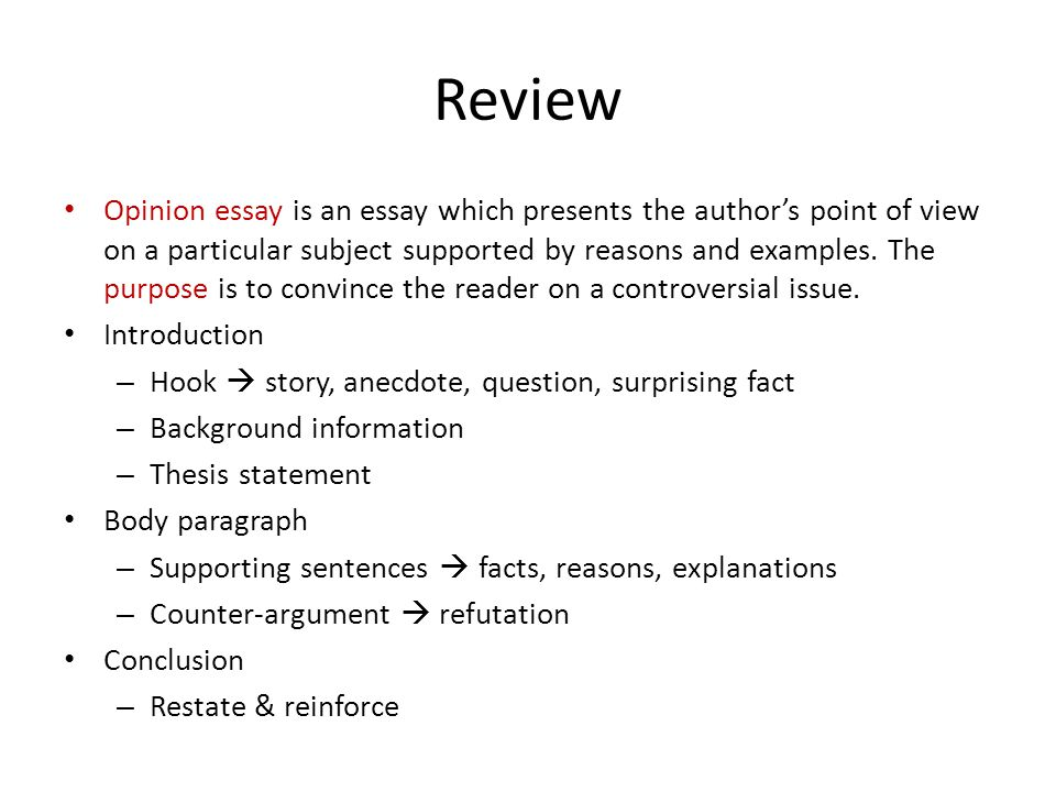 Unit 4 Opinion Essays Part ppt video online download