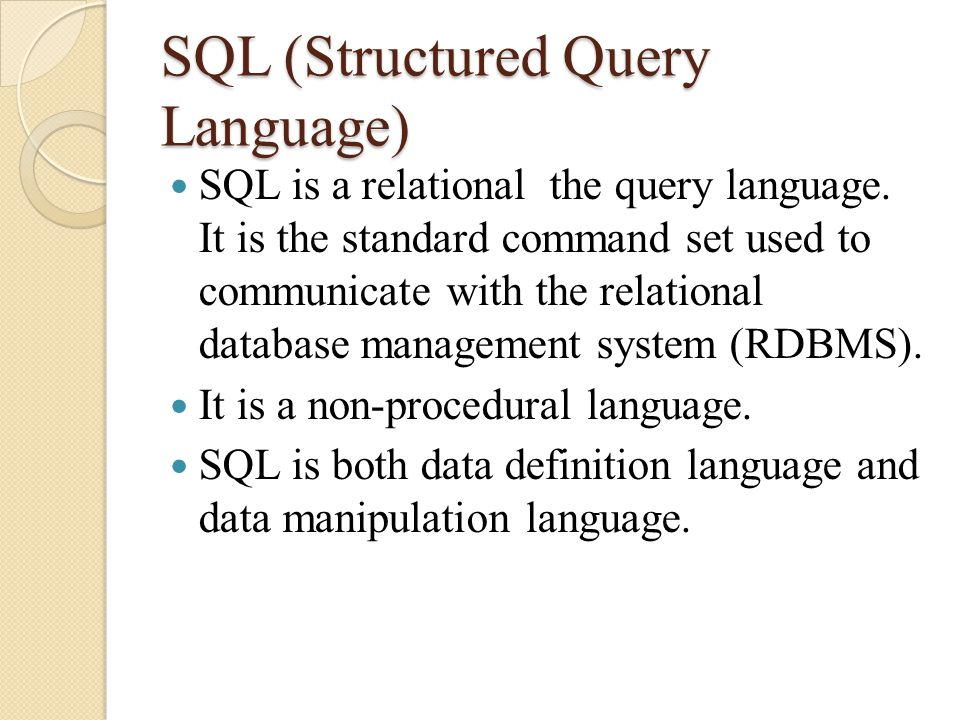 Introduction to RDBMS - ppt download