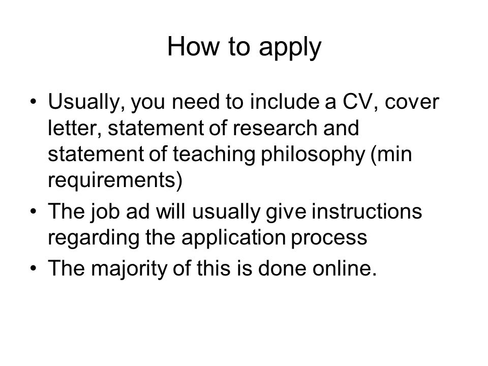 Preparing for the Academic Job Search - ppt video online download
