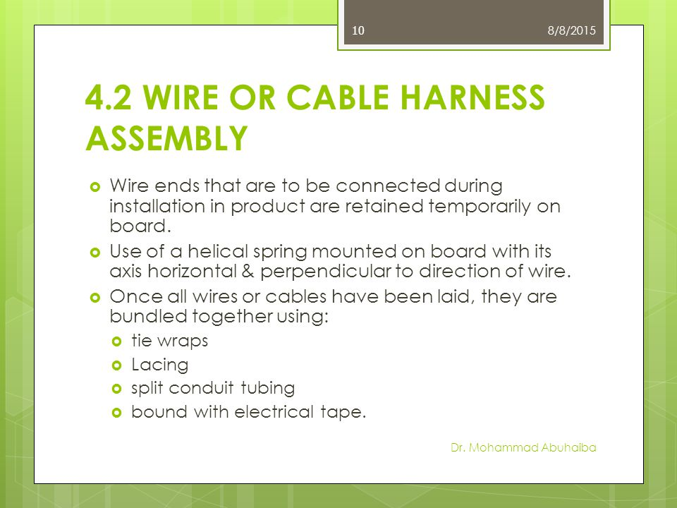 Helical Wire Harness Lay Wiring Diagram