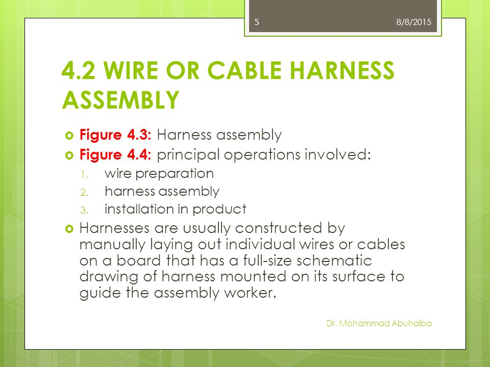 Electrical Connections and Wire Harness Assembly - ppt video online