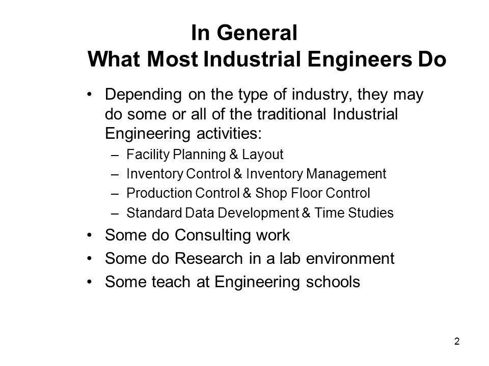 IE Job Description Steve Snelling Industrial Engineer/Process