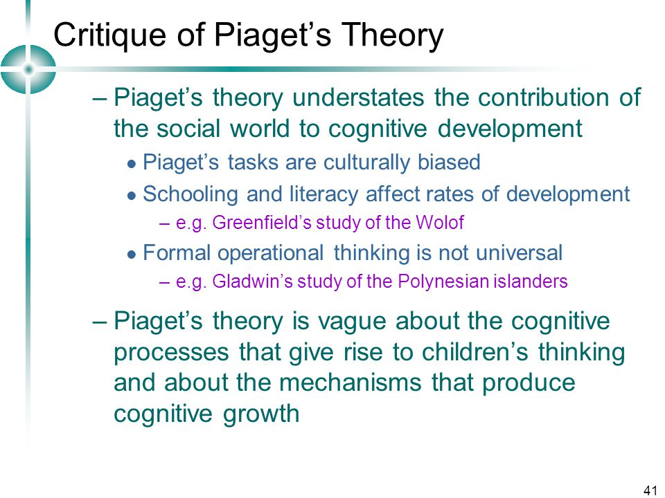 Piaget\u0027s Theory of Cognitive Development - ppt video online download - piaget's theory