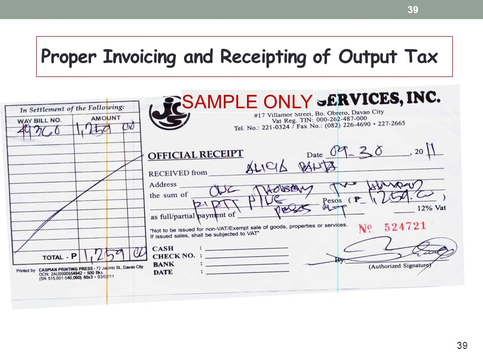 BIR Official Receipts and Sales Invoices in the - oukasinfo - official receipt sample
