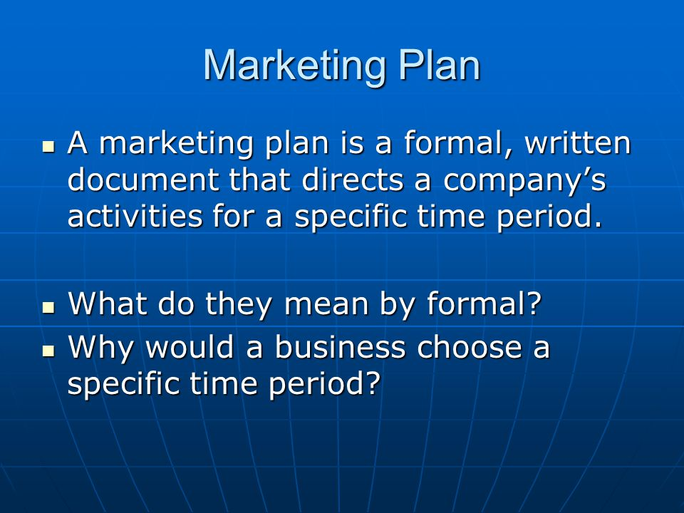 Writing a Marketing Plan - ppt video online download
