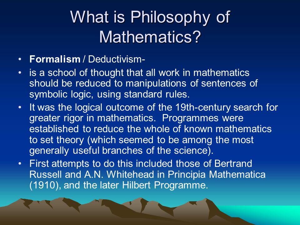 Philosophy of Mathematics - ppt download