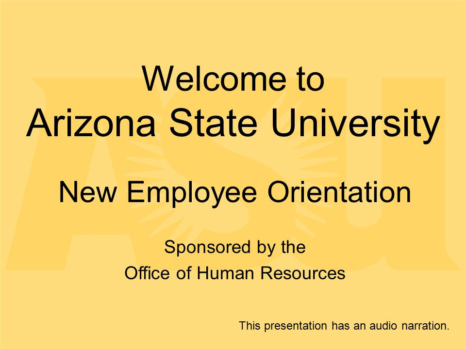 Welcome to Arizona State University - ppt download