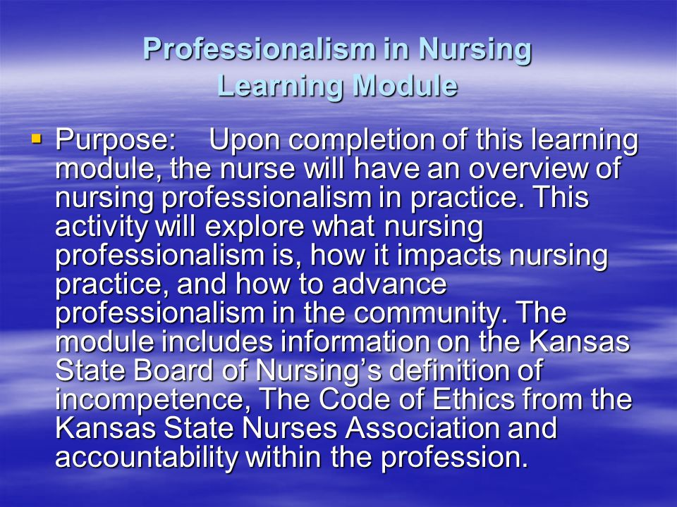 Professionalism in Nursing - ppt video online download