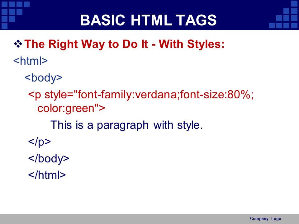 HTML BASIC - ppt video online download