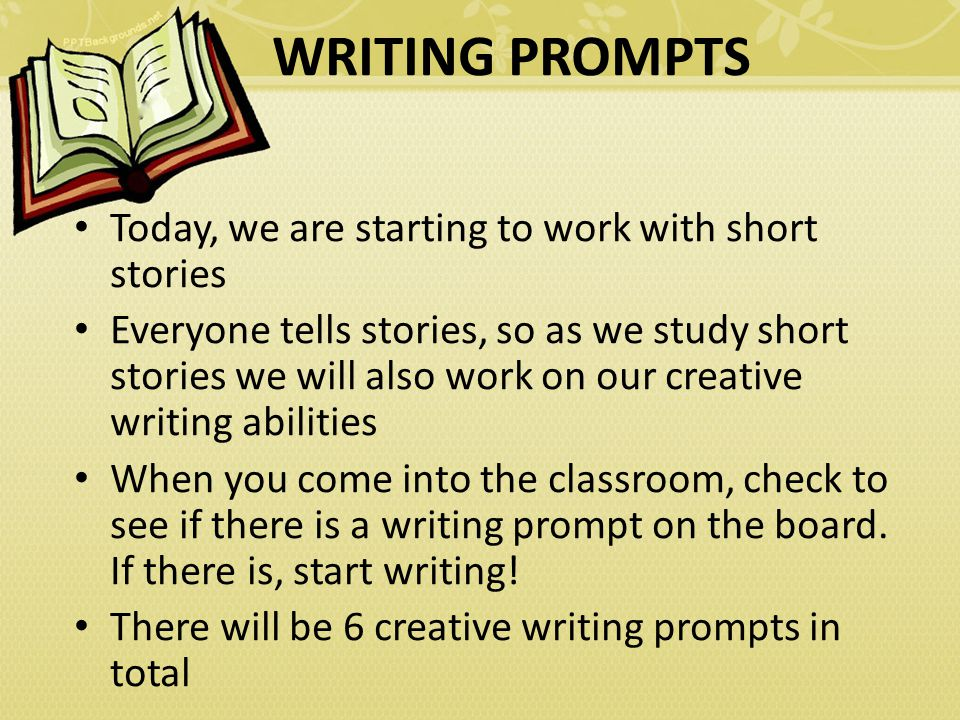 Check In And Announcements Creative Writing Prompts Ppt