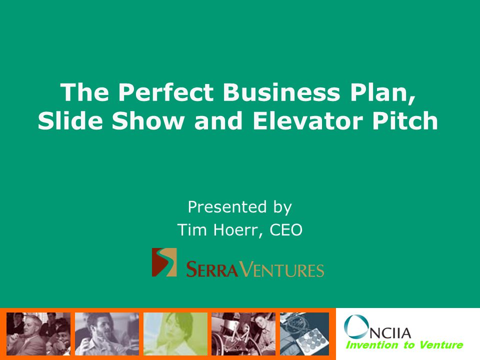 The Perfect Business Plan, Slide Show and Elevator Pitch - ppt video
