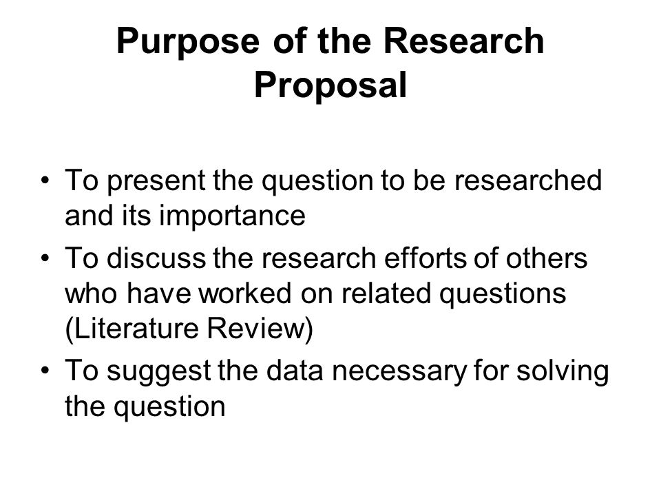 The Research Proposal - ppt video online download