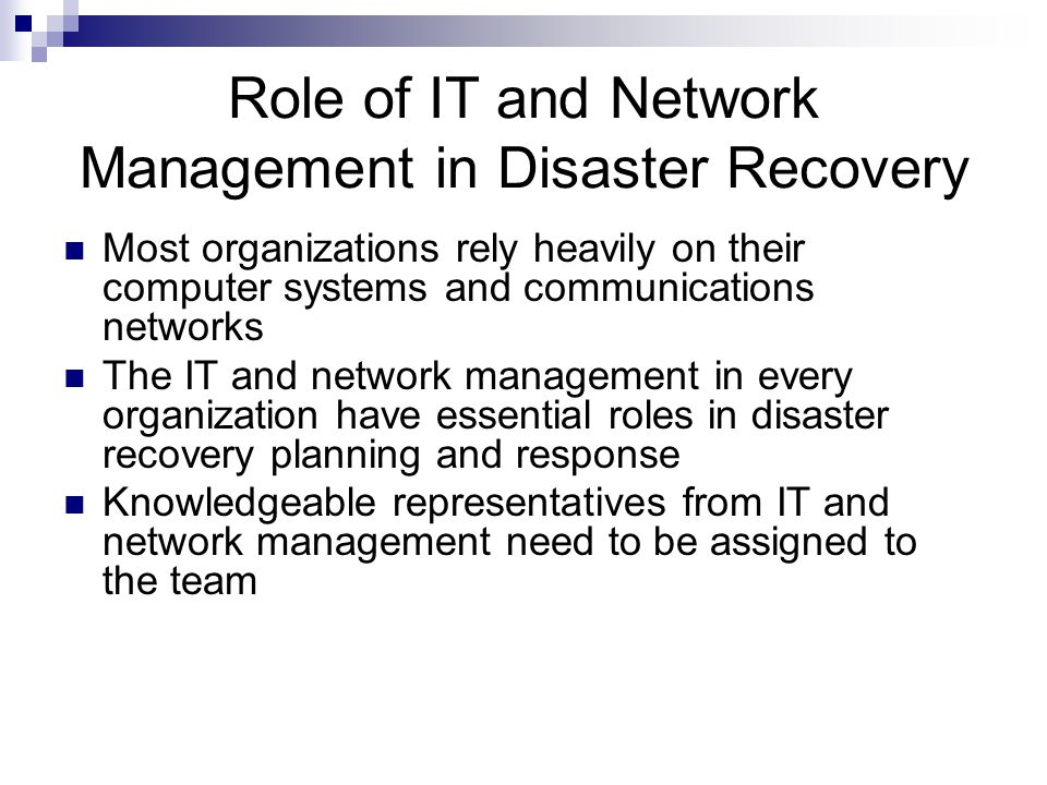 Guide to Disaster Recovery - ppt video online download