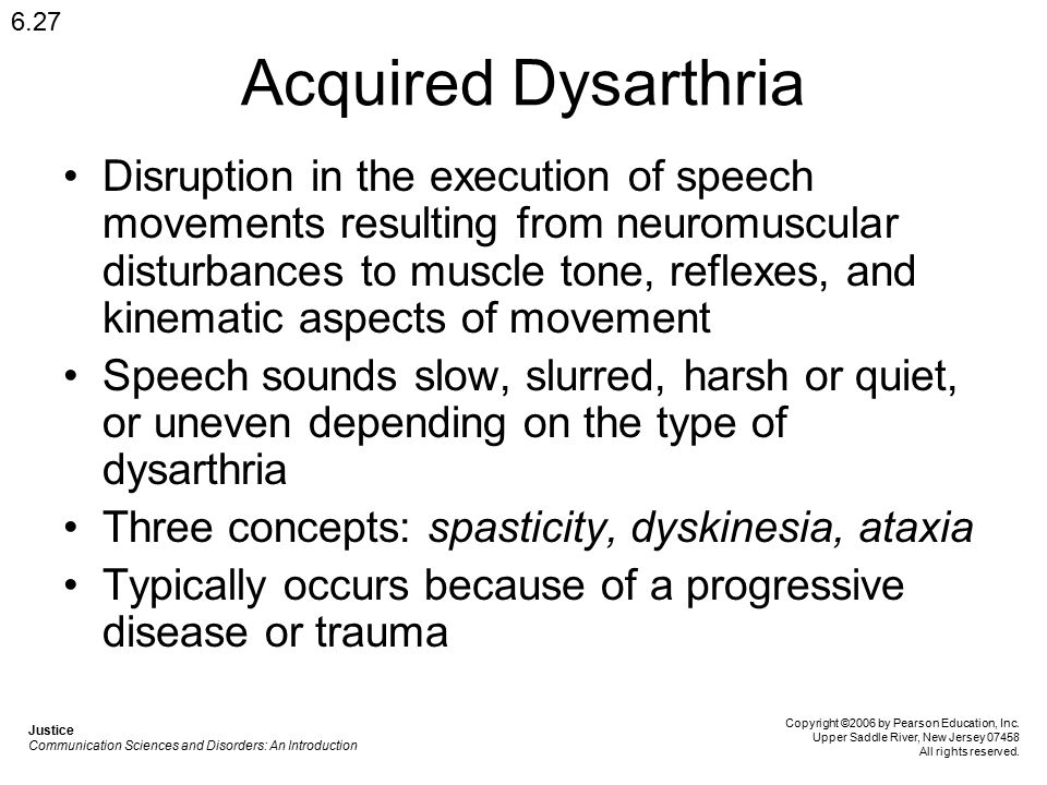 Chapter 6 Motor Speech Disorders Apraxia and Dysarthria - ppt