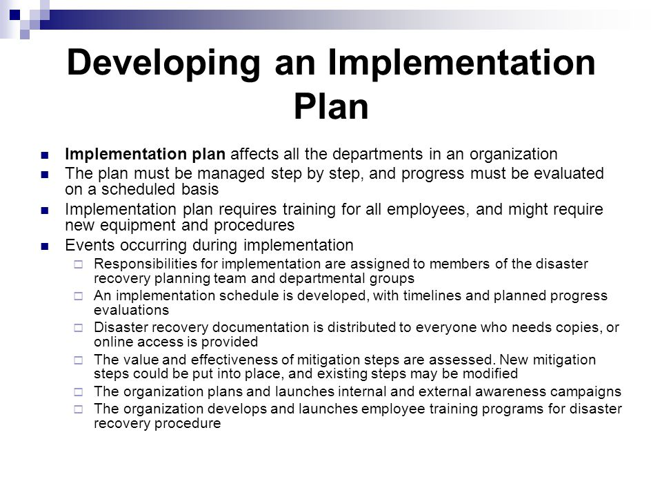 Implementing Disaster Recovery Plans - ppt video online download