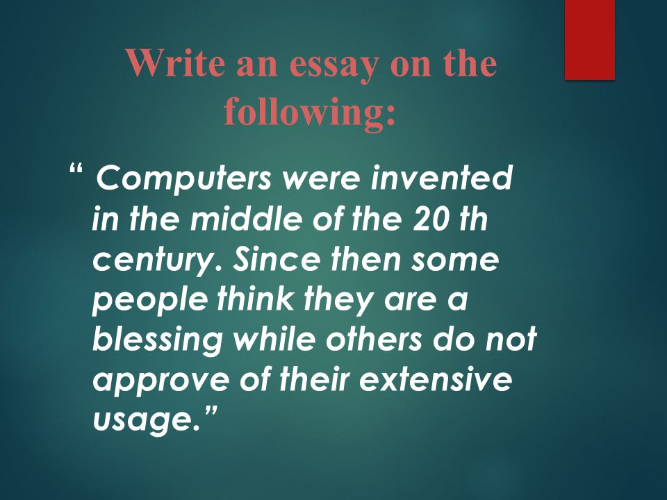 Write an essay on history of computer Homework Academic Service