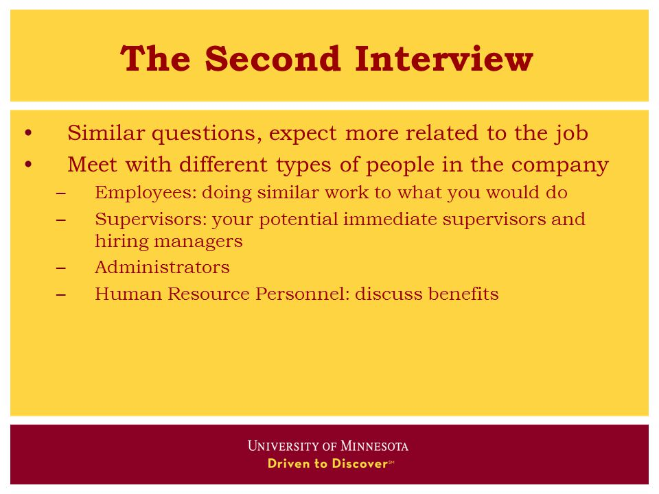 Career Center for Science and Engineering - ppt download - what to expect from a second interview