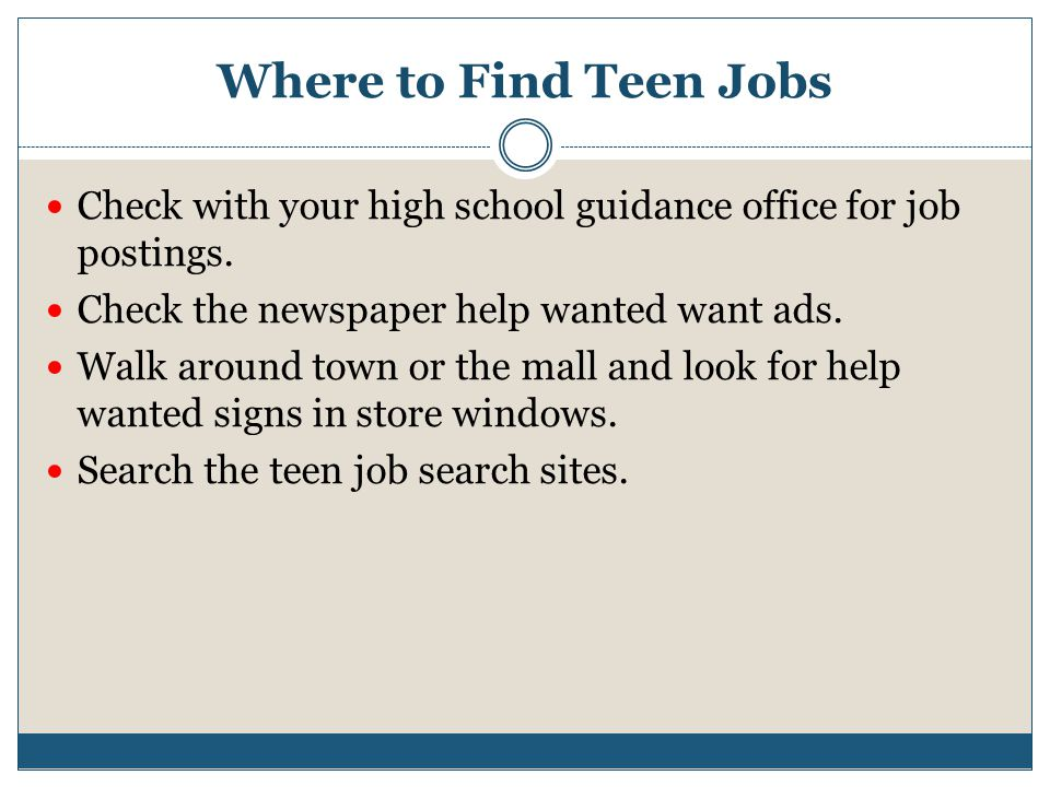 Job Finder For High School Students dnio