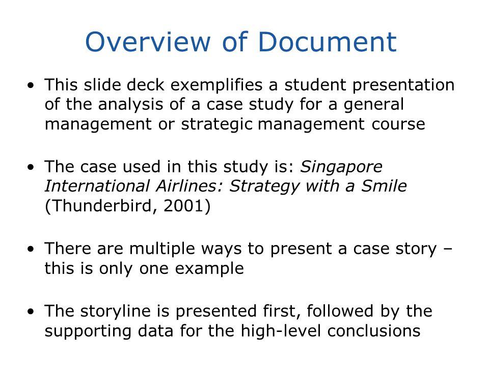Sample Student Presentation Slides Strategic Management Case