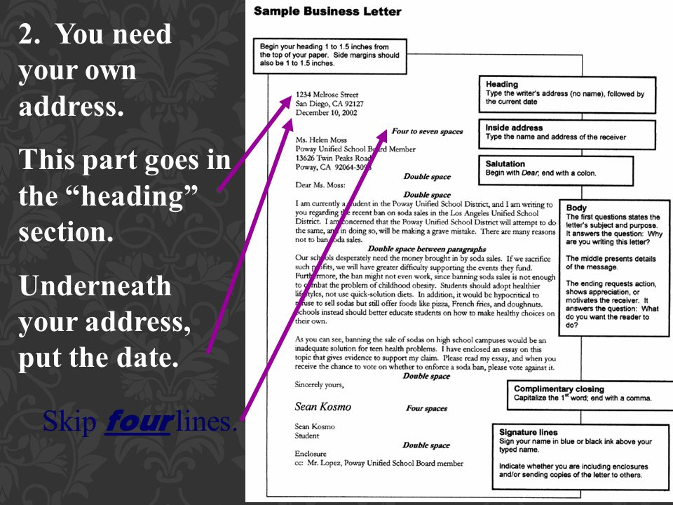 How to Write a Business Letter - ppt video online download