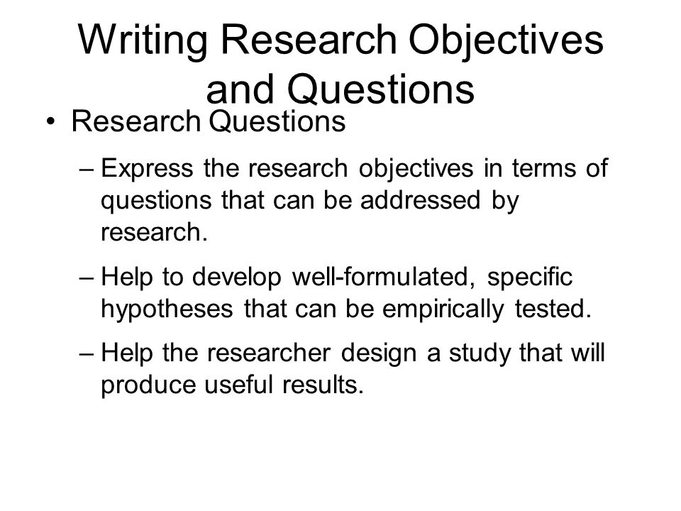 Write objective research paper