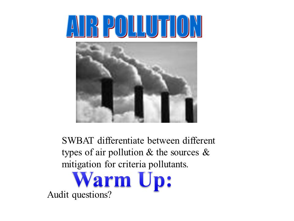 What are the different types of air pollution essay Homework Writing