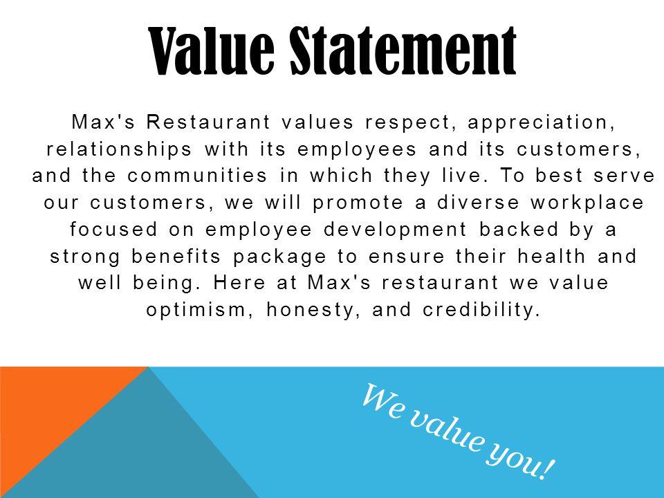 Max\u0027s restaurant Team 4 Ashley Douty Shea O\u0027Rourke John Robbins
