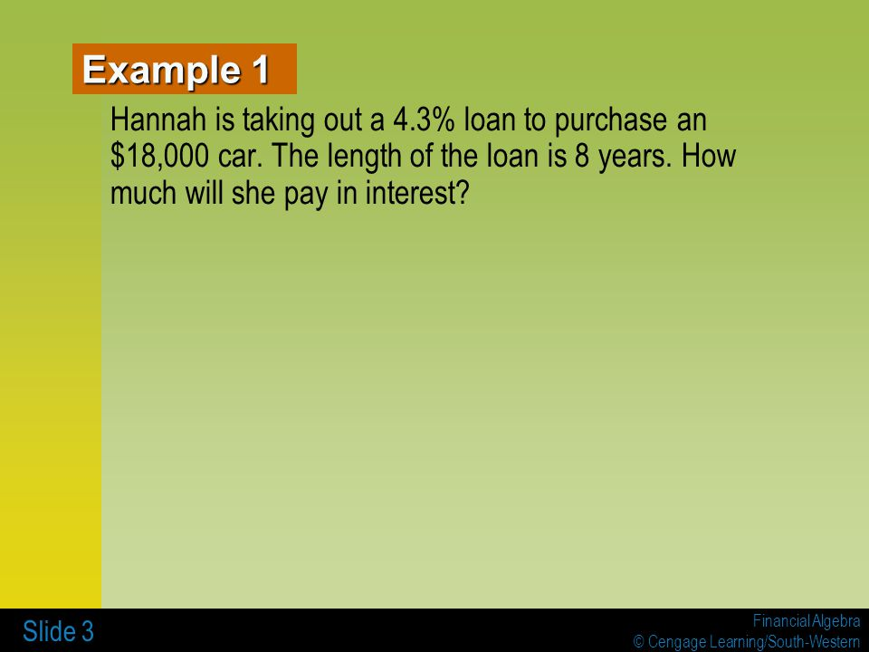4-3 LOAN CALCULATIONS AND REGRESSION - ppt video online download