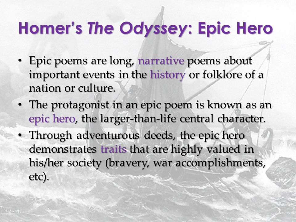 Unit Epic Poetry The Odyssey - ppt download