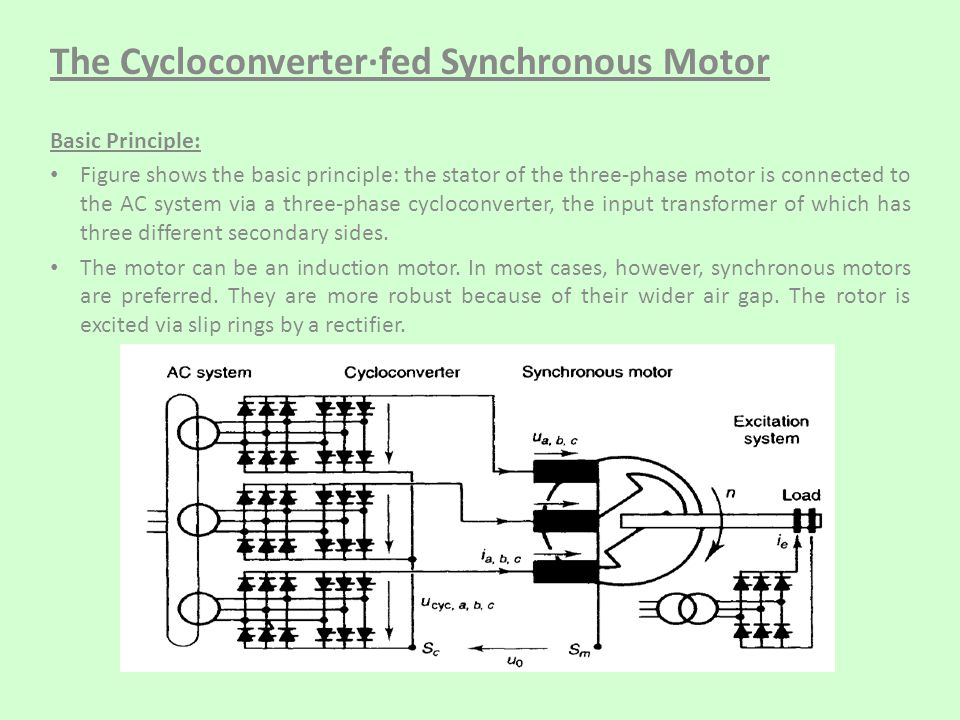 The Cycloconverter·fed Synchronous Motor - ppt video online download