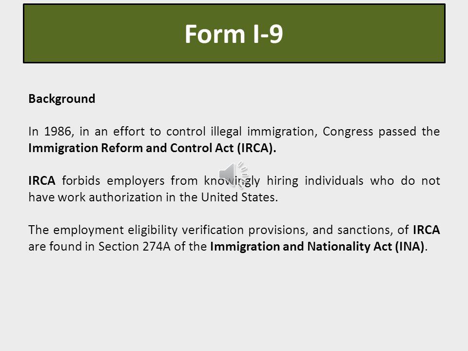 Form I-9 Employment Eligibility Verification  E-Verify Information - Work Authorization Form