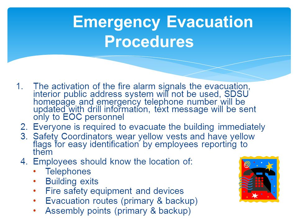EMERGENCY EVACUATION TRAINING - ppt video online download