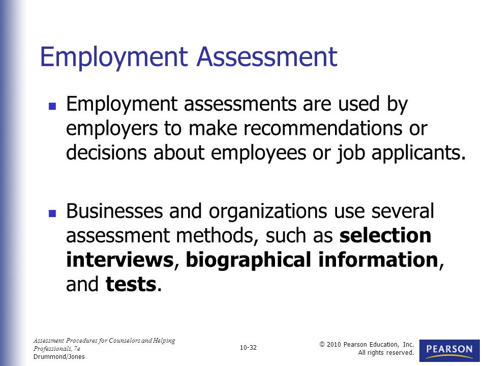 Career and Employment Assessment - ppt video online download