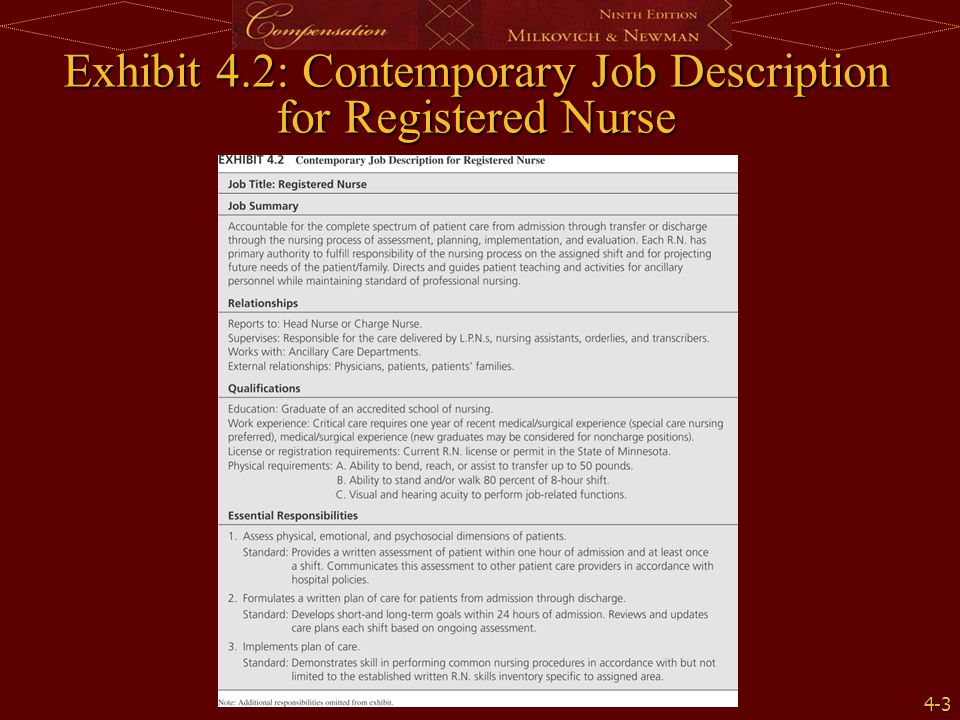Job Description Performance Evaluation DIRECTOR OF NURSING