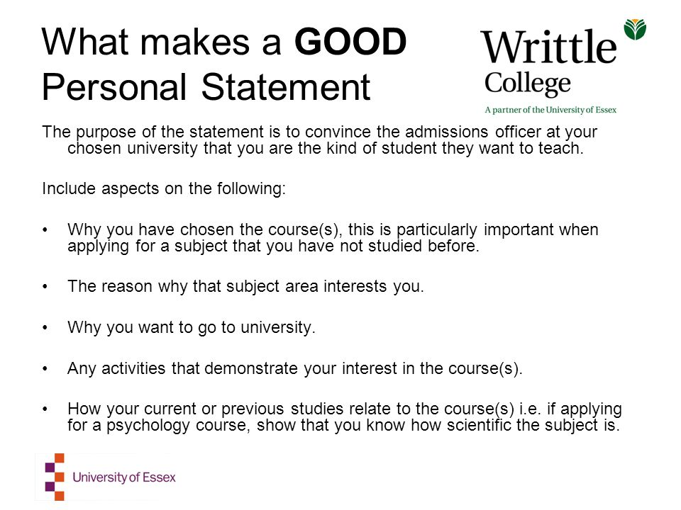 Creating your UCAS Personal Statement - ppt download