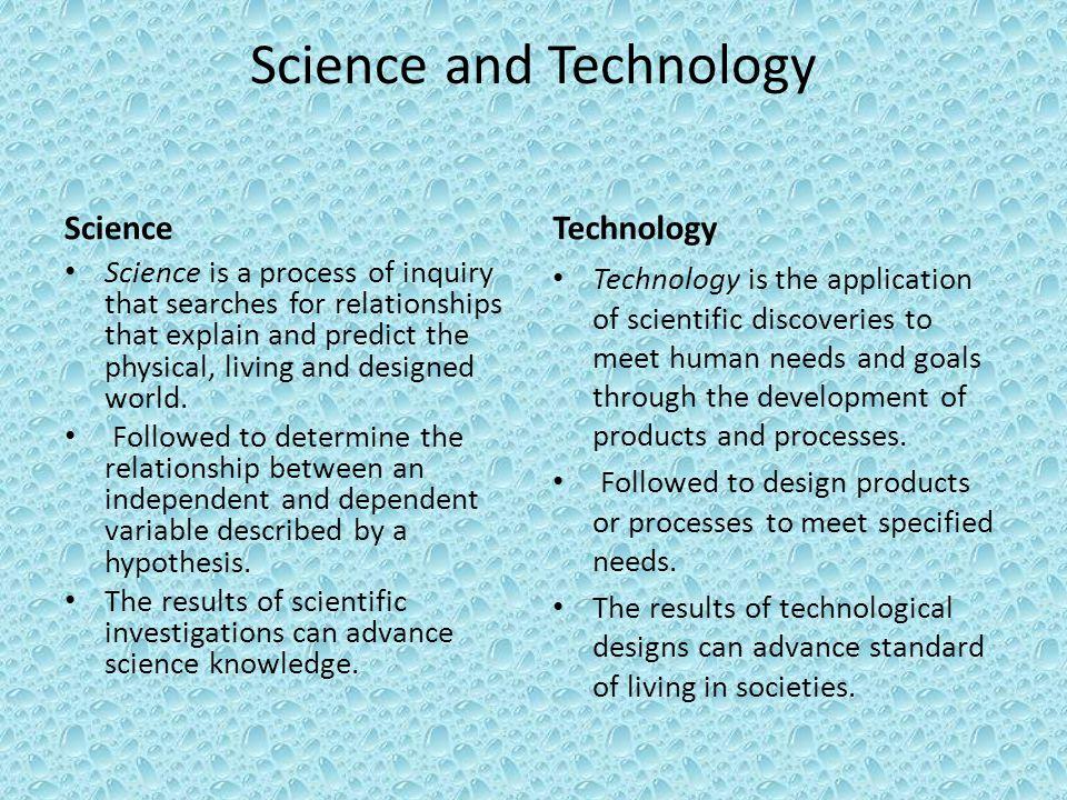Scientific Investigation vs Technological Design - ppt download
