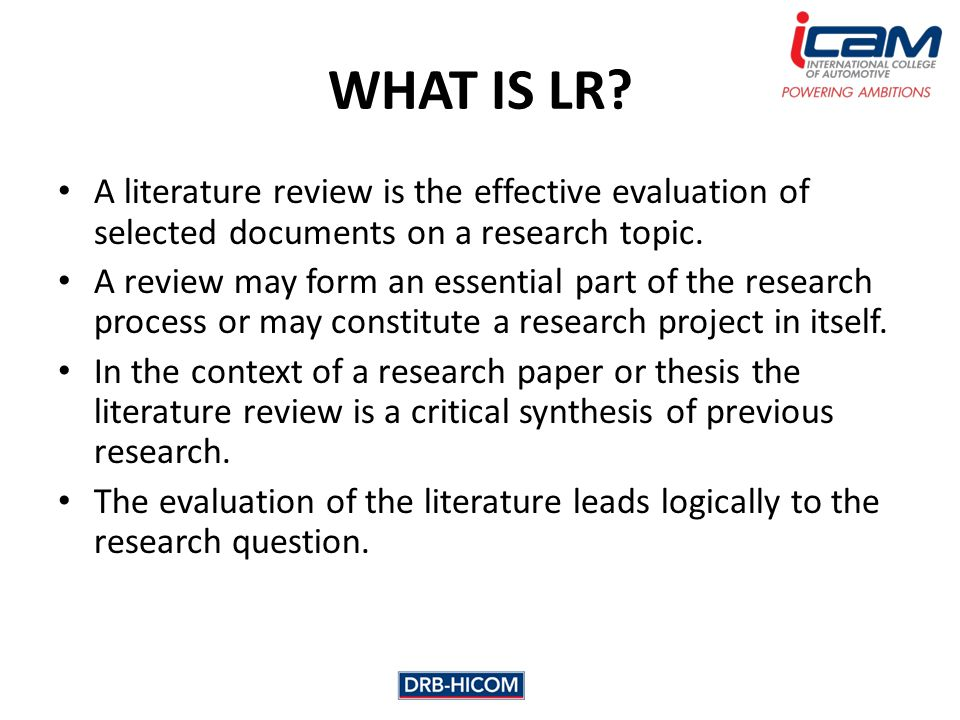 literature review sample papers - Intoanysearch - literature review