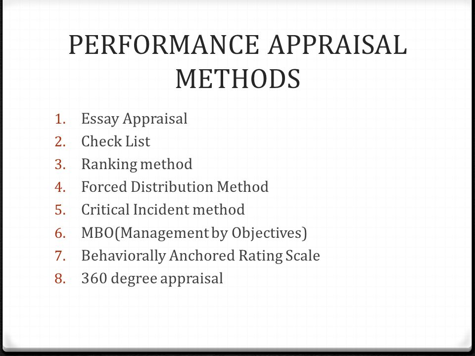 PERFORMANCE APPRAISAL SYSTEMS - ppt video online download