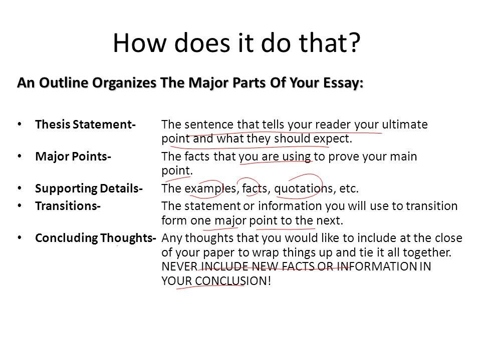 What are the three major parts of an essay College paper Academic - parts of an essay
